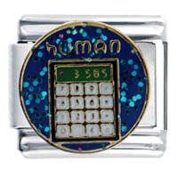 Italian Charms - human calculator words &  phrases italian charm Image.