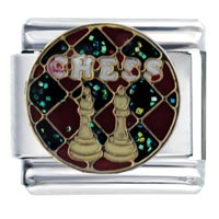 Italian Charms - chess words &  phrases italian charm bracelet Image.