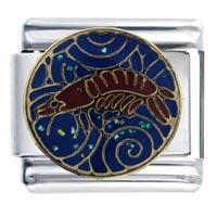 Italian Charms - enamel animal shrimp spring italian charm 9 mm link stainless steel Image.