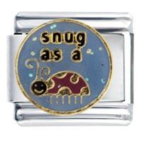 Italian Charms - snug as bug italian charm bracelet Image.