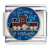 Italian Charms - i lost train thought words &  phrases italian charm bracelet Image.