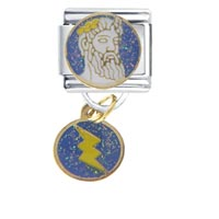 Italian Charms - zeus travel &  flags italian charm bracelet dangle italian charm Image.
