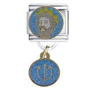 Italian Charms - poseidon travel &  flags italian charm bracelet dangle italian charm Image.