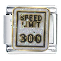 Italian Charms - speed limit 300  italian charms Image.