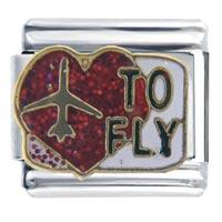 Italian Charms - heart to fly birthstones jewelry italian charm bracelet Image.