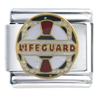 Italian Charms - lifeguard work &  leisure italian charms Image.