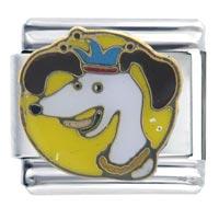 Italian Charms - mardi gras dog gift italian charm Image.