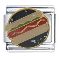 Italian Charms - hot dog italian charms Image.