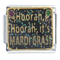 Italian Charms - mardi gras hoorah words &  phrases italian charm Image.