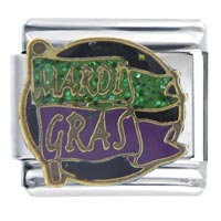Italian Charms - mardi gras flag travel &  italian charms Image.