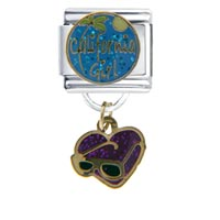 Italian Charms - california girl dangle glass italian charms dangle italian charm Image.