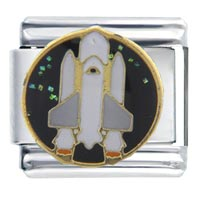 Italian Charms - white space shuttle work &  leisure italian charm Image.