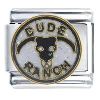 Italian Charms - dude ranch work &  leisure italian charms Image.