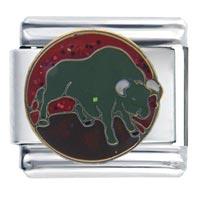 Italian Charms - raging bull gift italian charm Image.