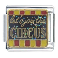 Italian Charms - let' s join circus words &  phrases italian charm Image.