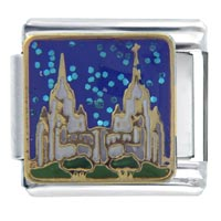 Italian Charms - san diego california temple themed travel flags italian charms Image.