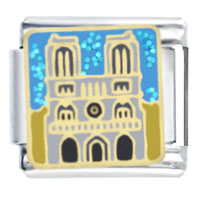 Italian Charms - notre dame themed travel flags charms italian bracelet italian charm Image.