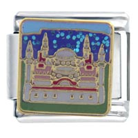 Italian Charms - hagia sophia themed travel flags italian charms Image.