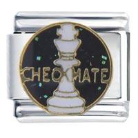Italian Charms - checkmate italian charms Image.