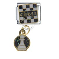 Italian Charms - chess pawn italian charms dangle italian charm Image.