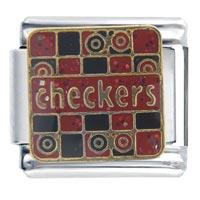 Italian Charms - checkers work &  leisure italian charm Image.
