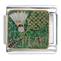 Italian Charms - badminton sports italian charms Image.
