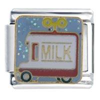 Italian Charms - milk truck italian charms Image.