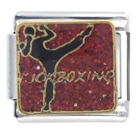 Italian Charms - kickboxing sports italian charm bracelet Image.