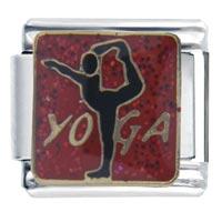 Italian Charms - golden italian charm bracelet yoga Image.