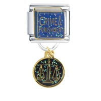 Italian Charms - crime punishment birthstones jewelry italian charm dangle italian charm Image.