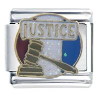 Italian Charms - justice words &  phrases italian charm bracelet Image.