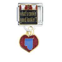 Italian Charms - what' s cookin'  good lookin'  italian charms dangle italian charm Image.