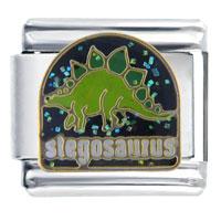 Italian Charms - stegosaurus animal italian charms Image.