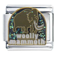 Italian Charms - woolly mammoth animal italian charms Image.