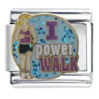 Italian Charms - i power walk italian charms Image.