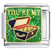 Italian Charms - you' re tresure words &  phrases italian charm bracelet Image.