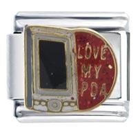 Italian Charms - love pda italian charms Image.