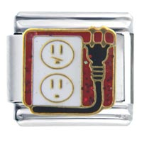 Italian Charms - electric outlet italian charms Image.