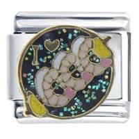 Italian Charms - i heart shrimp &  love italian charm bracelet Image.