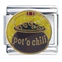Italian Charms - pot o'  chili food italian charm bracelet Image.