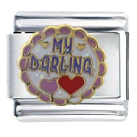Italian Charms - love darling themed holiday italian charm bracelet Image.
