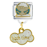 Italian Charms - bathtime!  dangle italian charms Image.