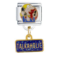 Italian Charms - talkaholic gift italian charm dangle italian charm Image.