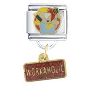 Italian Charms - workaholic italian charms dangle italian charm Image.