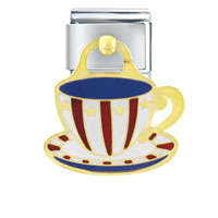 Italian Charms - usa barista mug holiday italian charms dangle italian charm Image.