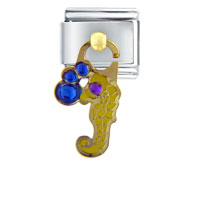 Italian Charms - dangle seahorse italian charms Image.