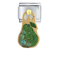 Italian Charms - green pear italian charms dangle italian charm Image.