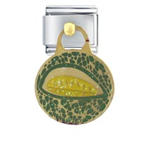 Italian Charms - cantaloupe work &  leisure italian charm bracelet dangle italian charm Image.