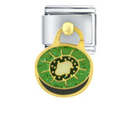 Italian Charms - kiwi dangle work &  leisure italian charm dangle italian charm Image.