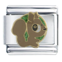 Italian Charms - baby squirrel animal italian charms Image.